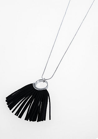 Chain with faux leather tassel from s.Oliver