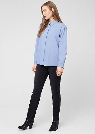 Chambray blouse with mother-of-pearl buttons from s.Oliver