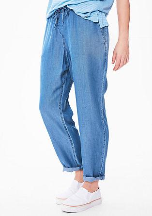 Chambray broek in een sportieve look