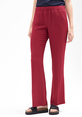 Charlotte Wide: Lightweight crêpe trousers from s.Oliver