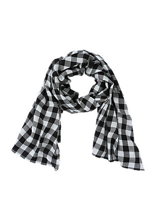 Check cotton scarf from s.Oliver