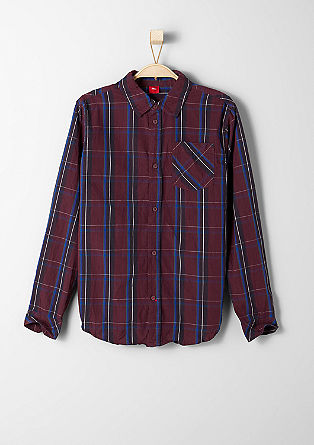 Check crinkled shirt from s.Oliver