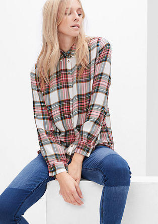 Check flannel blouse from s.Oliver