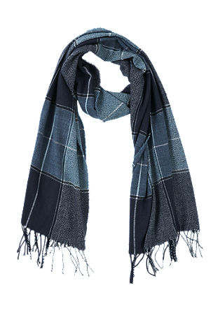 Check scarf with fringing from s.Oliver