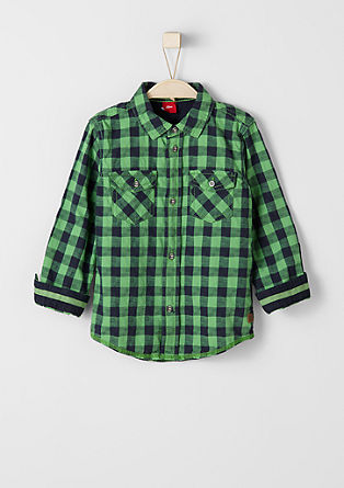 Check textured shirt from s.Oliver