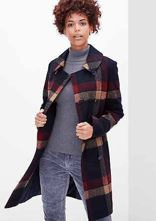 Checked wool coat from s.Oliver