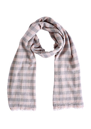 Checked woven scarf from s.Oliver
