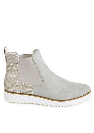 Chelsea boots met details met slangenprint