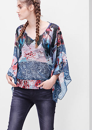 Chiffon blouse in a mix of patterns from s.Oliver