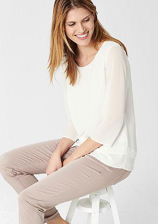 Chiffon blouse met laagjes