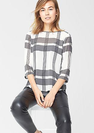 Chiffon blouse met transparant effect