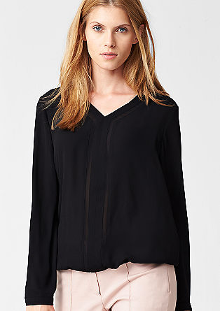 Chiffon blouse with a decorative front from s.Oliver