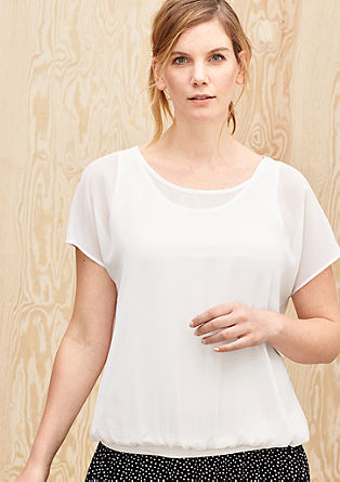 Chiffon blouse with a layered effect from s.Oliver