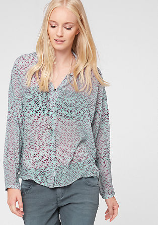 Chiffon blouse with a minimalist pattern from s.Oliver