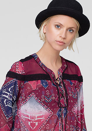 Chiffon blouse with an Inca print from s.Oliver