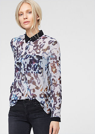 Chiffon blouse with leopard print from s.Oliver