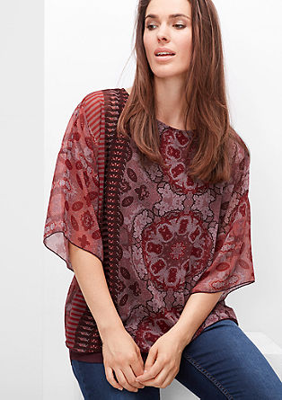Chiffon blouse with top from s.Oliver