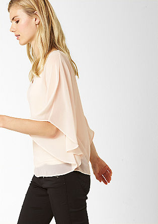 Chiffon cape blouse with a top from s.Oliver
