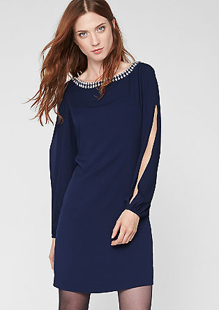 Chiffon dress with a decorative collar from s.Oliver