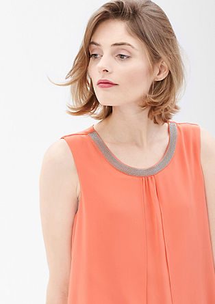 Chiffon dress with a decorative trim from s.Oliver