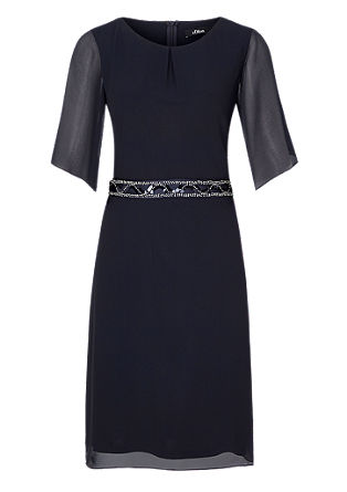 Chiffon dress with a satin tie-around belt from s.Oliver