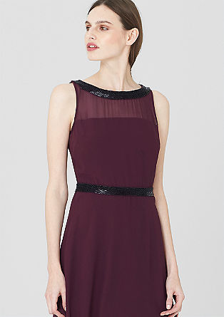 Chiffon dress with gemstones from s.Oliver