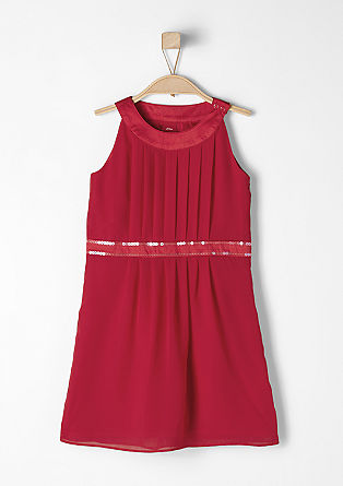 Chiffon dress with pleating from s.Oliver