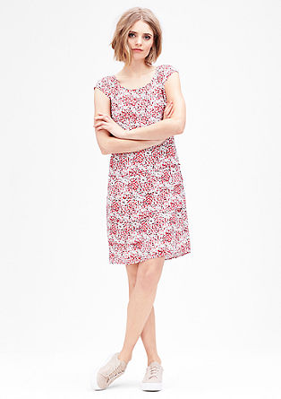 Chiffon jurk met all-over motief