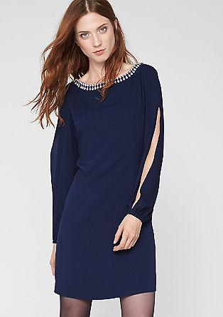 Chiffon jurk met een mooie kraag