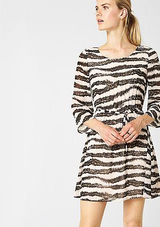 Chiffon jurk met fraai motief