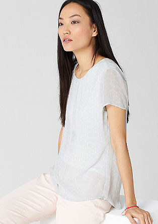Chiffonbluse mit Allover-Muster