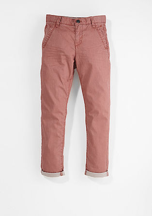 Chino: Garment-dyed twill-broek
