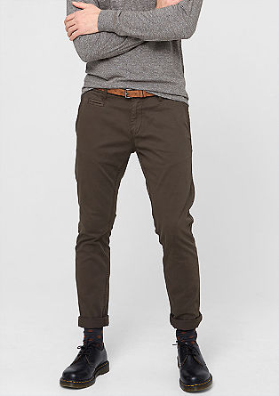 Chino Slim: stretch trousers with a belt from s.Oliver