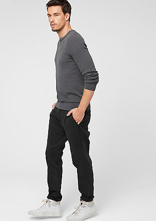 Chino Slim: stretchy twill trousers from s.Oliver