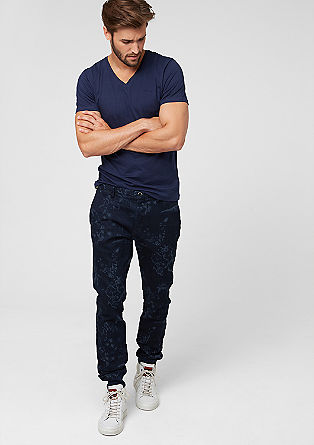 Chino Slim: Sweathose in Denim-Optik