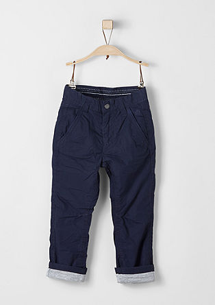 Chinos: lined twill trousers from s.Oliver