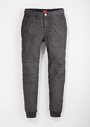 Chinos: trousers in a denim look from s.Oliver