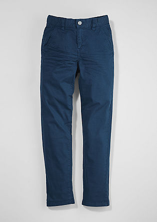 Chinos: trousers with an all-over pattern from s.Oliver