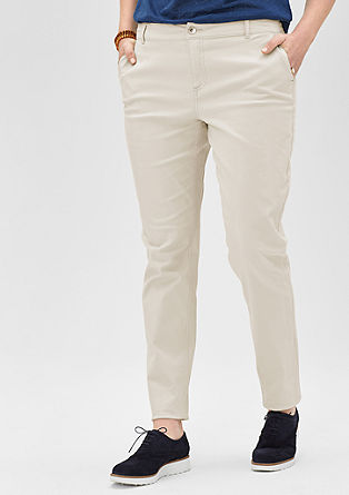 Chinos in stretch cotton from s.Oliver