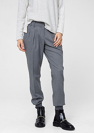 Chinos with pinstripes and cuffs from s.Oliver