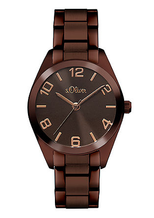 Chique horloge van edelstaal