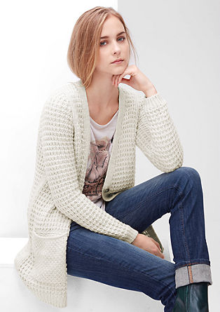Chunky knit cardigan in a wool blend from s.Oliver
