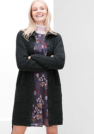 Chunky knit coat in blended wool from s.Oliver