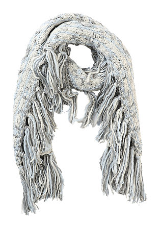 Chunky knit fringed scarf from s.Oliver