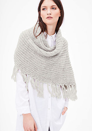 Chunky knit fringed snood from s.Oliver