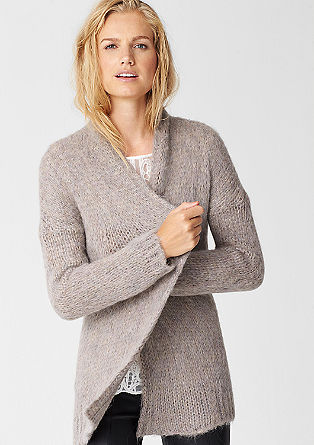 Chunky knit jacket with mohair from s.Oliver