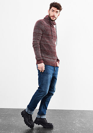 Chunky knit jumper with a shawl collar from s.Oliver