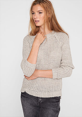 Chunky knit jumper with buttons from s.Oliver