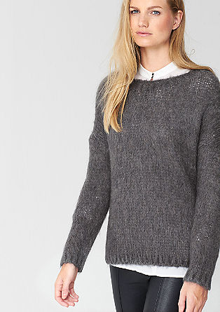 Chunky knit jumper with mohair from s.Oliver