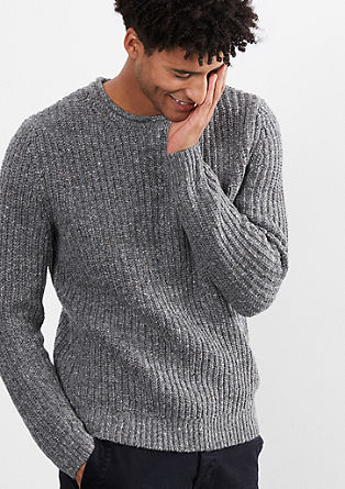 Chunky knit jumper with wool from s.Oliver